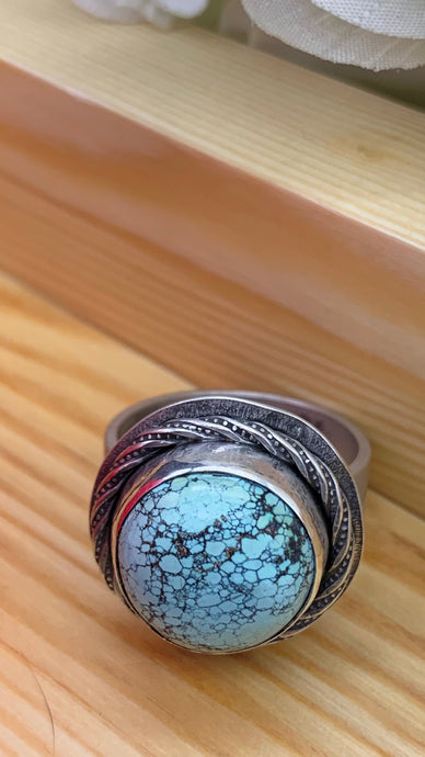 Skylakes Turquoise and sterling silver ring