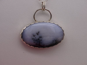 Dendritic Opal and Silver necklace