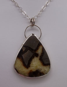 Septarian and Silver Necklace