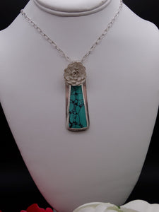 Hubei Turquoise and Silver Necklace