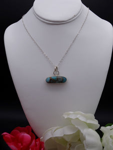 Amazonite Composite and Silver necklace