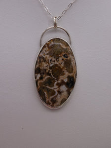 Ocean Jasper and Silver necklace