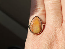 Load image into Gallery viewer, Cantera Opal and sterling silver ring size 5