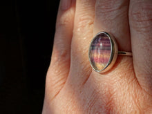 Load image into Gallery viewer, Banded Fluorite and silver ring size 9