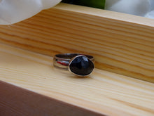 Load image into Gallery viewer, Iolite and silver ring size 8