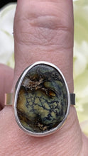 Load image into Gallery viewer, Damele Variscite and Sterling silver ring size 12 1/2