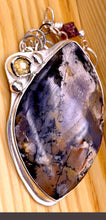 Load image into Gallery viewer, Amethyst Sage Agate and Silver Necklace