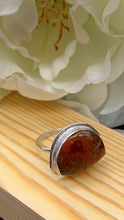 Load image into Gallery viewer, Moroccan Seam Agate and Silver Ring Size 8 1/2
