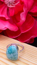 Load image into Gallery viewer, American Turquoise and Silver Ring Size 6
