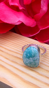 American Turquoise and Silver Ring Size 6