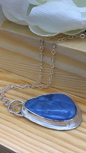 Blue Opal and Silver necklace