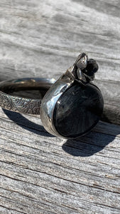 Labradorite and Silver Ring Size 8