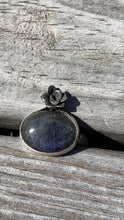 Load image into Gallery viewer, Labradorite and Silver Ring Size 8