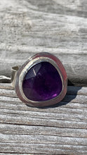 Load image into Gallery viewer, Amethyst and Silver Ring Size 6 1/2