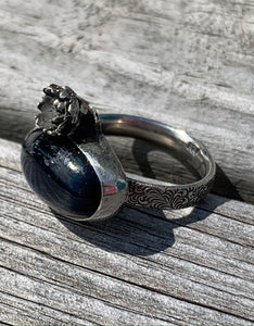 Kyanite and sterling silver ring size 7