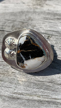 Load image into Gallery viewer, White Buffalo and silver Ring Size 8 3/4