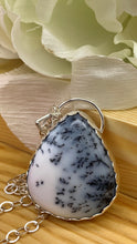 Load image into Gallery viewer, Dendritic Opal and Silver necklace