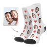 Custom Heart Socks - Fotosocken