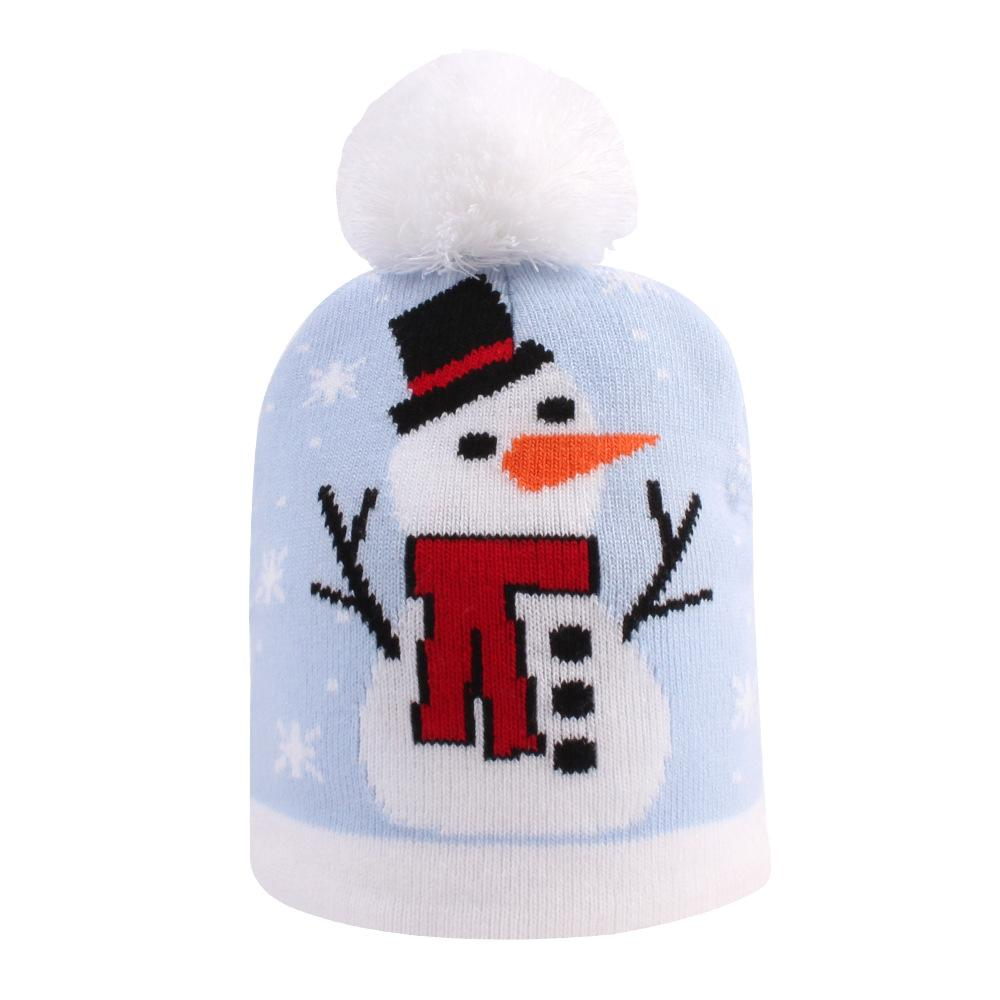 Christmas Hat Kids Xmas Beanie Colorful New Year Party Hat - UNIVERSAL SIZE