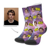 Best Son In The Galaxy Personalisierte Gesicht Socken