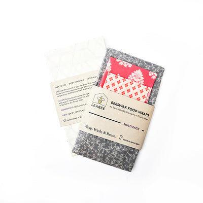 Beeswax Food Wraps - Pack of 3