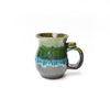 Michael Lemer - Chocolate Brown, Blue, Green Drip Belly Mug