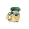 Michael Lemer - Light Brown & Green Drip Belly Mug