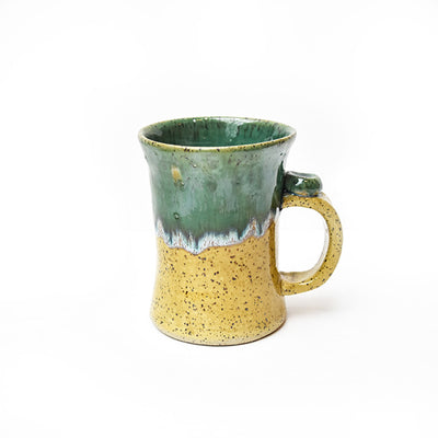 Michael Lemer - Light Brown & Green Tall Mug