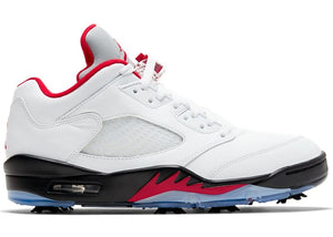 Jordan 5 Retro Low Golf Fire Red (Silver Tongue)