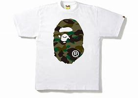 BAPE 1st Camo Big Ape Head Tee White/Green