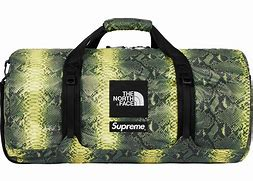 Supreme The North Face Snakeskin Flyweight Duffle Bag Green
