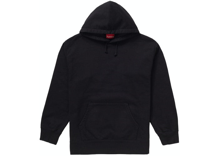 Supreme Rhinestone Script Hooded Sweatshirt Black