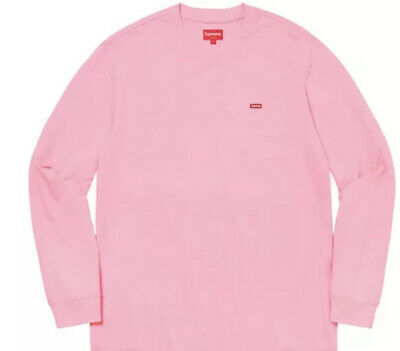 Supreme Small Box L/S Tee Pink