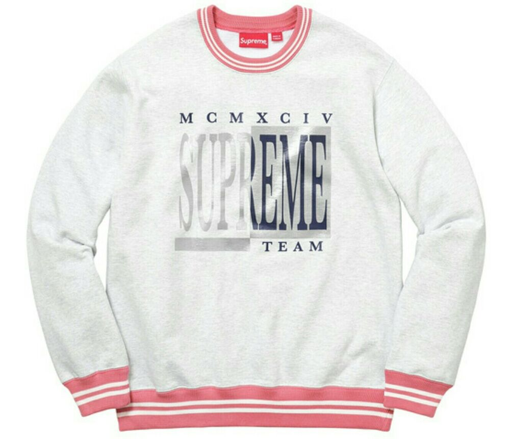 Supreme MCMXCIV Team Crewneck Heather Gray