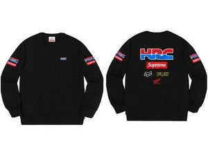 Supreme X Honda X Fox Crewneck Black