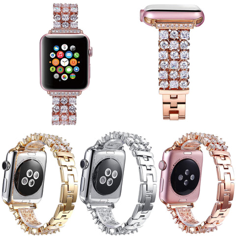 Luxury Bling Rhinestone Strap for Apple Watch Series 1/2/3 38mm 42mm Band