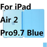 Ultra Slim Three Fold PU Leather Hard Back Smart Stand Case Cover for iPad Air 1/2 Pro9.7 10.5 inch - Smart Shopping Shop