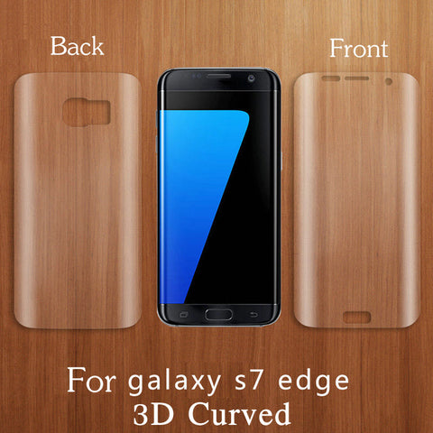 Screen Protector Clear 3D Curved Soft PET Full Cover Front For Samsung Galaxy Series