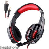Gaming Headset  Deep Bass Stereo Earphone with LED light  Microphone mic For PC Laptop PS4 Xbox