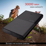 30.000 mAh Dual USB External Power Bank LED Screen Display DC Input Output Battery Charger Power Supply for Smartphones - Smart Shopping Shop