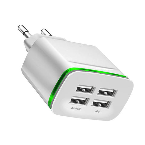 Universal 4 port USB Charger Adapter 4A LED lamp For All Devices - Smart Shopping Shop