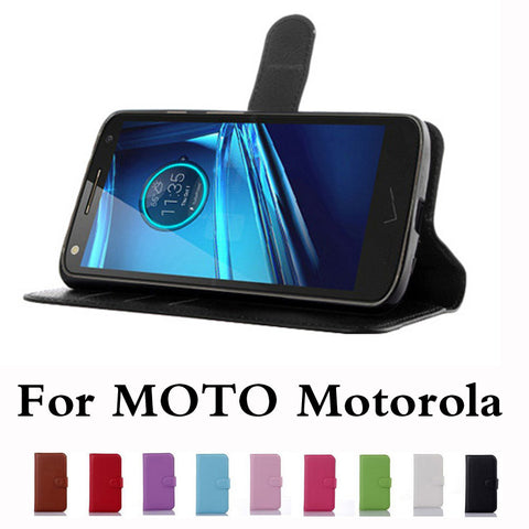Wallet Case Leather Flip Case For Motorola Series - Smart Shopping Shop