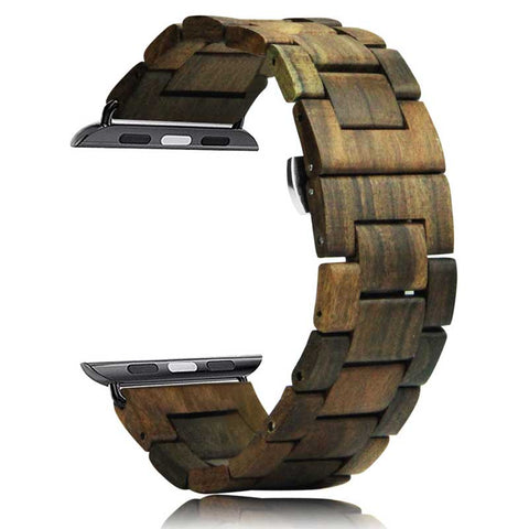 Natural Wood Watch Bracelet Luxury Watch Accessories For Apple Watch Band 42mm