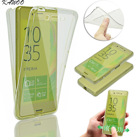 Clear White 360 Degree Full Body Shockproof TPU Soft Silicone Case For Sony Xperia Series - Smart Shopping Shop