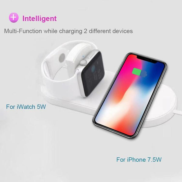 Wireless Pad Charger Fast Charging For iWatch 3/2 Universal Charger For Devices - Smart Shopping Shop