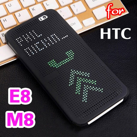 Flip Cover Smart View Original Shockproof Silicone Case For HTC One M8, M8S, E8 - Smart Shopping Shop