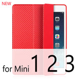 Case For iPad Mini 4 3 2 1 Case PU Leather Silicone Soft Back Trifold Stand Auto Sleep/Wake - Smart Shopping Shop