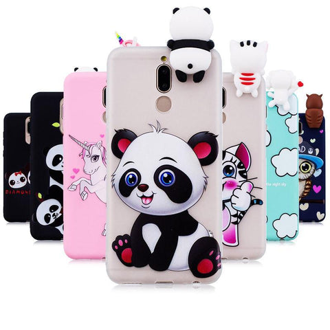 Phone Cases For Fundas Huawei Mate 10 Lite Case Soft TPU Candy Color Cartoon Back Cover
