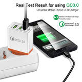 3 Ports Quick Charger 3.0 USB Phone Charger Fast Charger For Universal Devices - Smart Shopping Shop