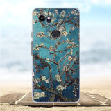 Silicon Luxury 3D Flower Painted Soft TPU Cover For Google Pixel 2 XL
